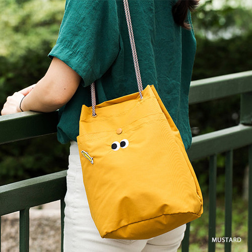 Mustard - Som Som durable taslan bucket shoulder bag