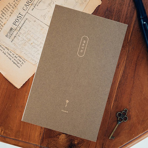 Brown - Meaningful time record plain drawing notebook
