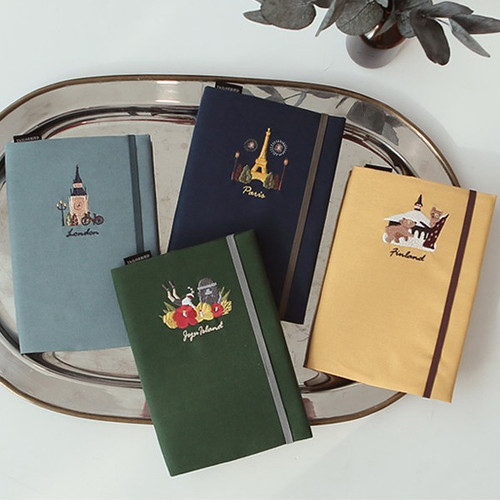 Tailorbird embroidery cotton cover undated weekly diary