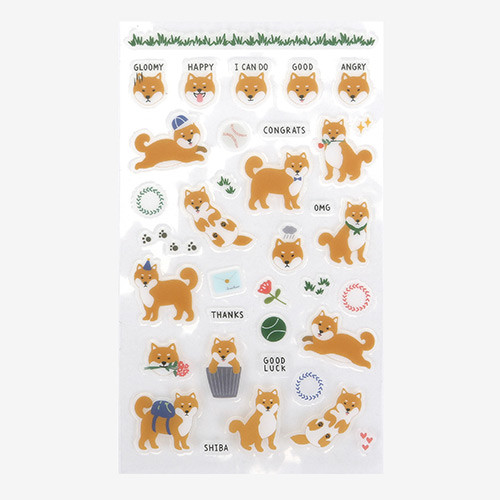Daily transparent sticker - Shiba Inu