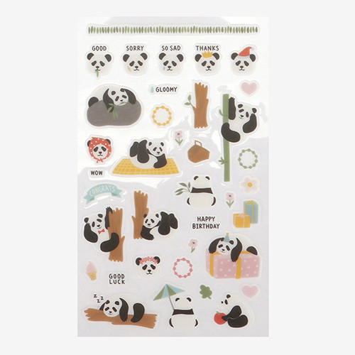 Daily transparent sticker - Panda