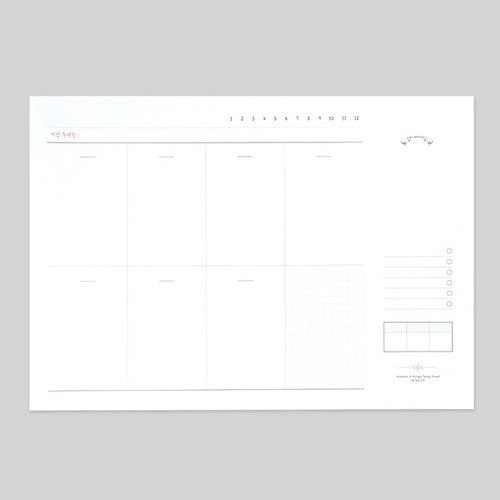 NACOO Plain dateless weekly desk planner pad