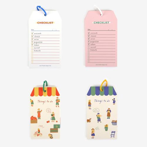 Le petit marche checklist ring notepad