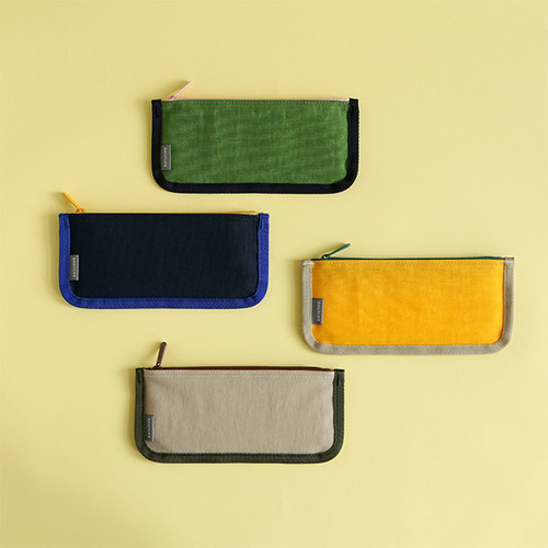 Le petit marche flat zipper pen case pencil case