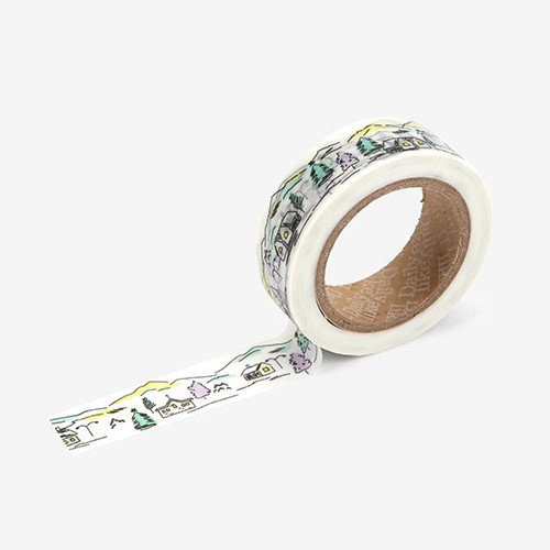 Dailylike Silence town single roll washi masking tape