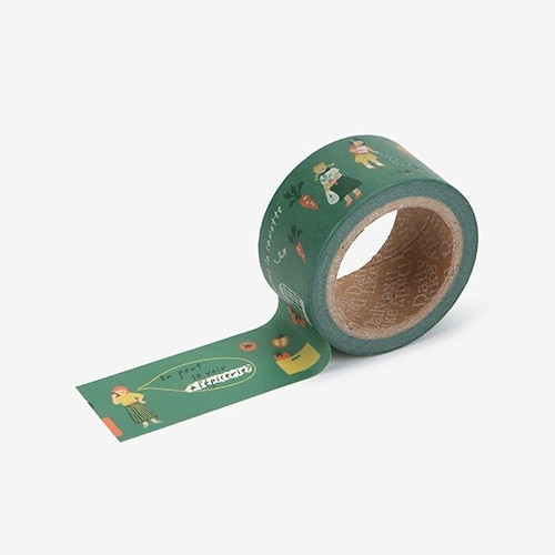 Dailylike Deco 25mm single roll masking tape - Greengrocery store