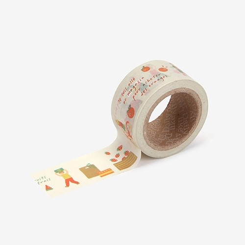 Dailylike Deco 25mm single roll masking tape - Fruits store