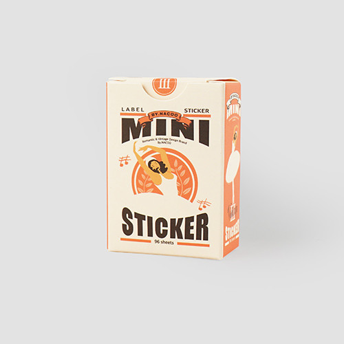 NACOO Vintage 3 small label sticker set