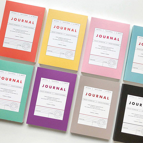 Vintage new color dateless weekly journal planner