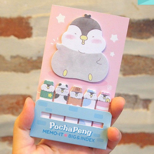 Pochapeng sticky bookmark memo notepad set