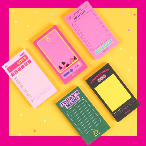 After The Rain Retro plain memo notepad