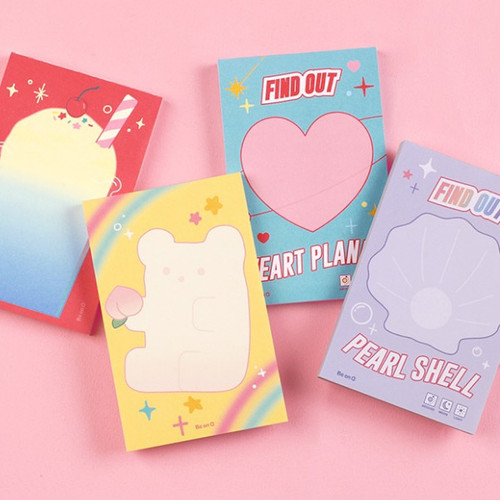 After The Rain Hally day deco pocket plain memo notepad
