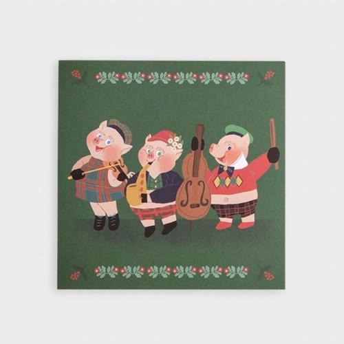 SOSOMOONGOO We love holiday folding card and envelope set