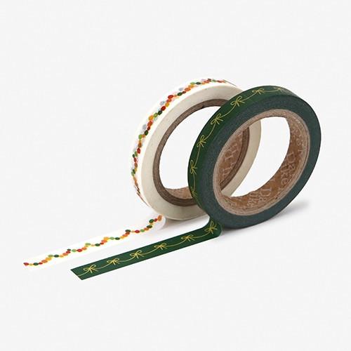 Dailylike Garland slim deco masking tape 2p set