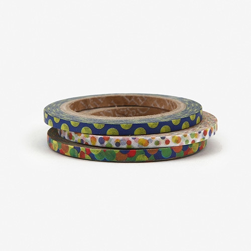 Dailylike Ball 3mm deco masking tape 3p set