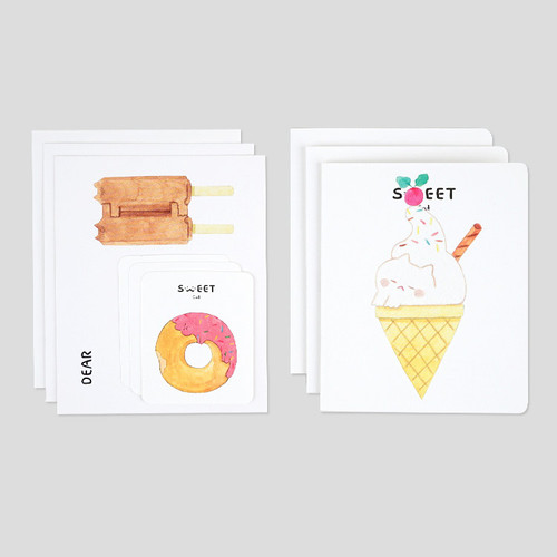 NACOO Sweet cat illustration card set ver2