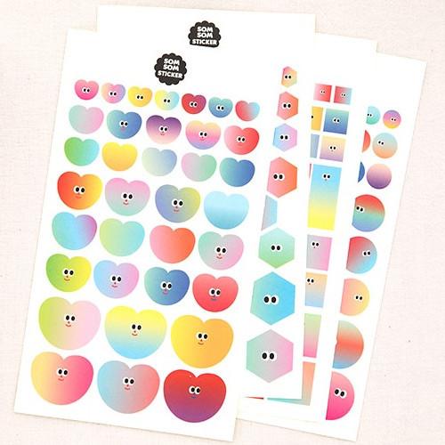 Livework Som Som gradation deco sticker set of 10 sheets
