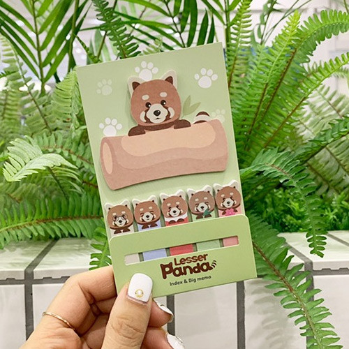 N.IVY Lesser panda sticky bookmark memo notepad set