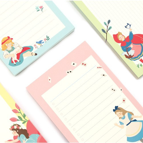 Bookfriends World literature illustration memo writing notepad