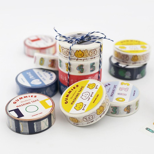 ROMANE Gummies washi paper 15mm X 10m deco masking tape