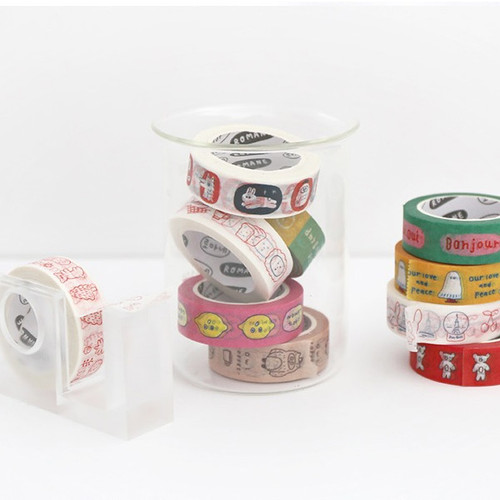 ROMANE Brunch Brother washi paper 15mm X 10m deco masking tape