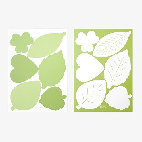 Dailylike Leaf name tag label sticker set
