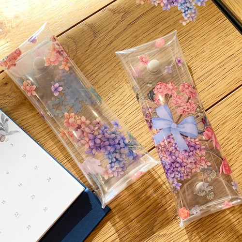 N.IVY Moons friends flower clear folding pencil case