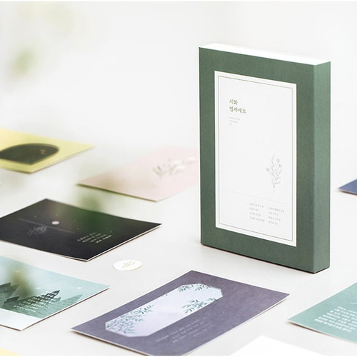 Livework Korean poetry postcard and envelope set