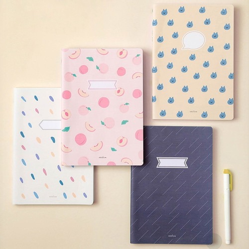Ardium Soft pattern large lined school notebook