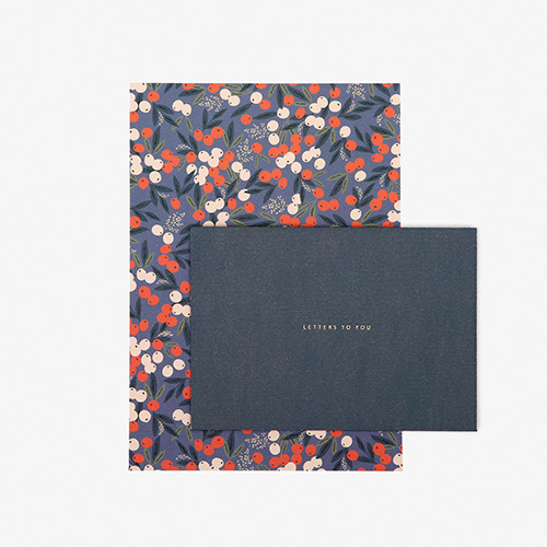 Dailylike Daily letter paper and envelope set - Manchu cherry