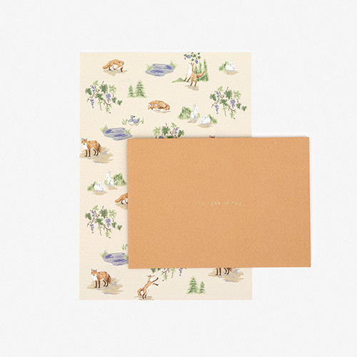 Dailylike Daily letter paper and envelope set - The fox and the grapes