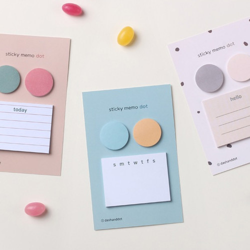 Dash and Dot Dots and angle memo notes sticky notepad