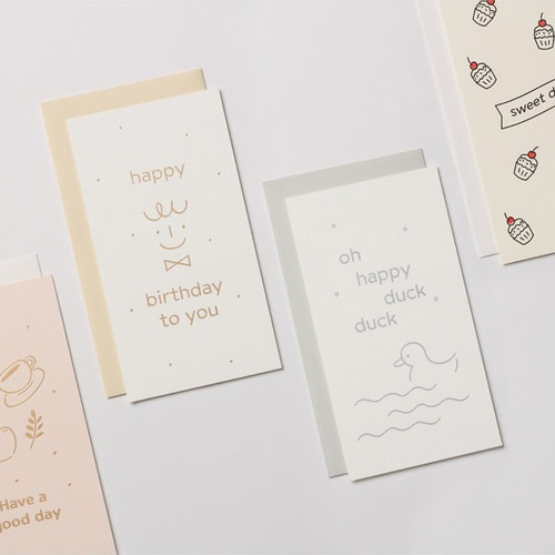 Dash and Dot Foil accent message card with envelope