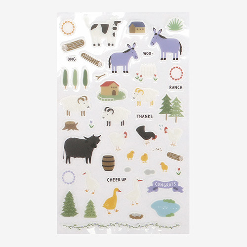 Daily transparent clear deco sticker - Ranch