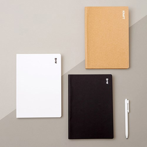 Ardium B+W kraft softcover large lined notebook
