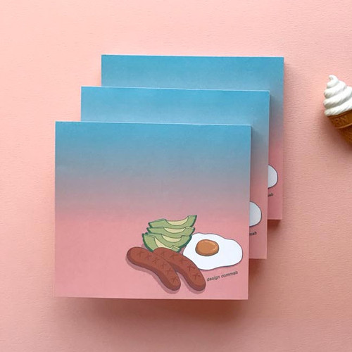 Memowang brunch illustration memo notepad