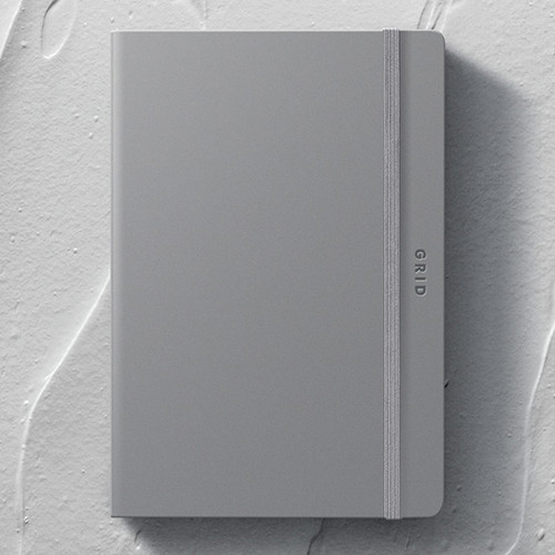 designlab kki Creative gray PU cover grid notebook