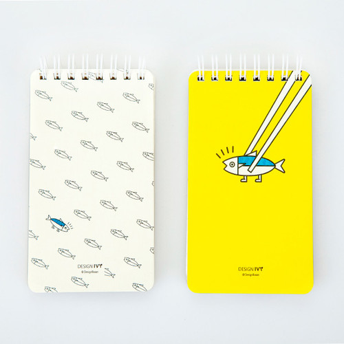 Ggo deung o pocket spiral lined notepad