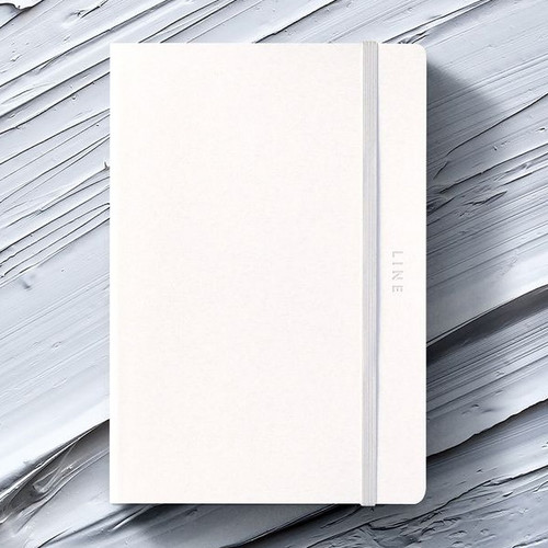 Creative natural white PU cover lined notebook