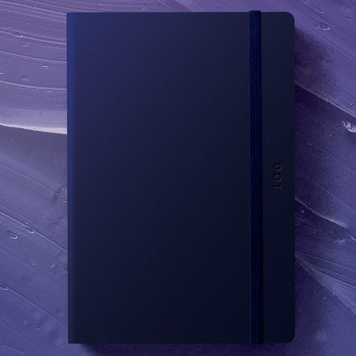 designlab kki Creative navy PU cover dotted notebook