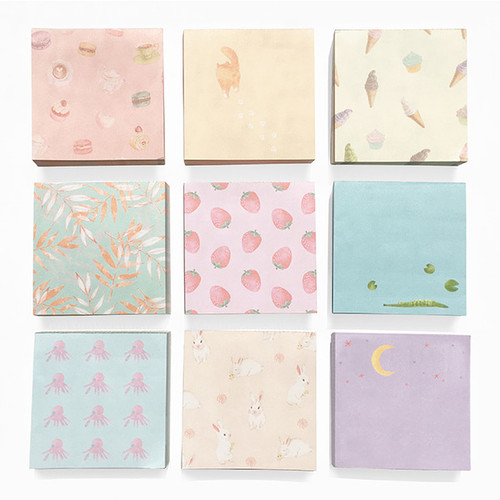 O-CHECK Vintage and cute illustration memo writing notepad