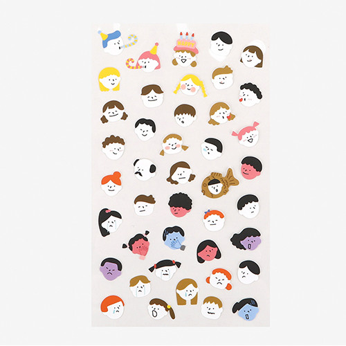 Dailylike For your heart paper adhesive sticker - Face