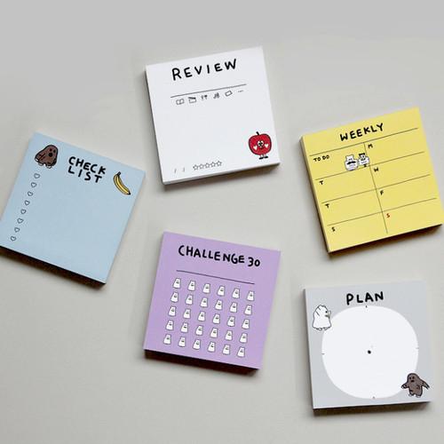 Gunmangzeung Ghost pop checklist memo planner notepad