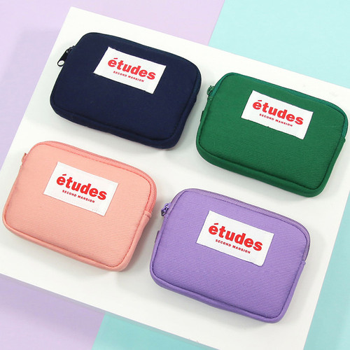 Etudes zipper card case wallet ver2