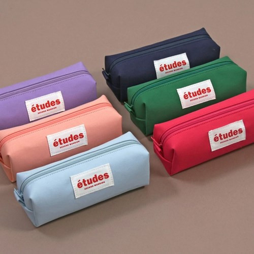 Second Mansion Etudes zipper fabric pencil case pouch