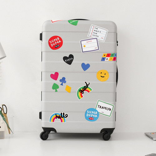 2NUL Traveler colorful luggage deco sticker set
