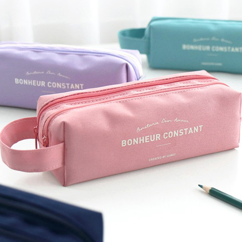 ICONIC Bonheur constant double zipper pencil case pen pouch
