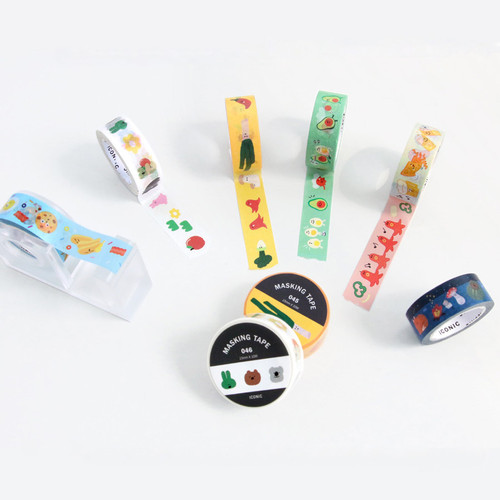 ICONIC Enjoy pattern paper deco masking tape
