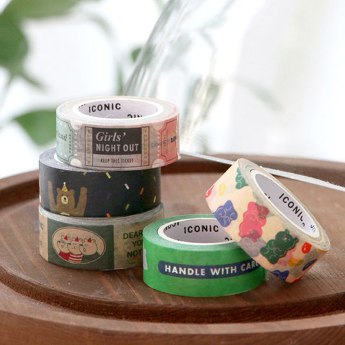 ICONIC Vintage pattern paper deco masking tape