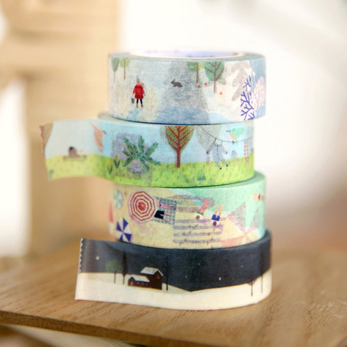 ICONIC Season pattern paper deco masking tape
